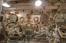 Steering Section On The USS Bowfin
