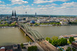 Skyline of Köln (Cologne) on a beautiful day
