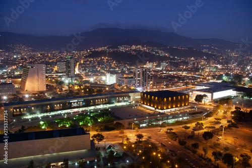 Foto auf AluDibond Schwarz Overview of the city of Medellin, Antioquia