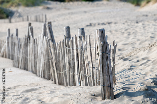 Valokuva  Old wooden fence in dunes