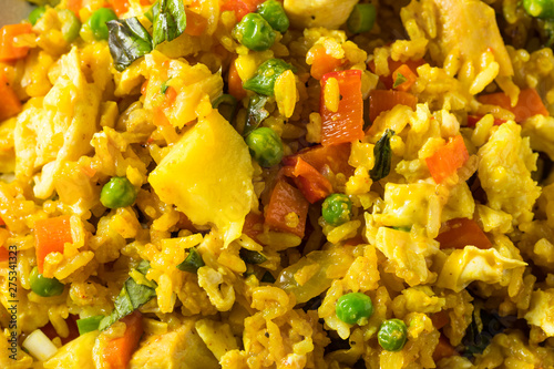 Homemade Pineapple Chicken Fried Rice Canvas Print