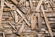 Abstract Wood Scraps Decoratio...