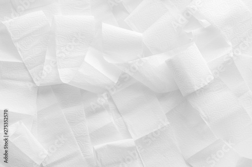 Photo Toilet paper pattern for proctology design on white background top view