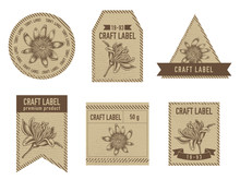 Craft Labels With Passion Flower