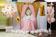 Sweet Beautiful Cake And Other Sweets For A Child's Birthday