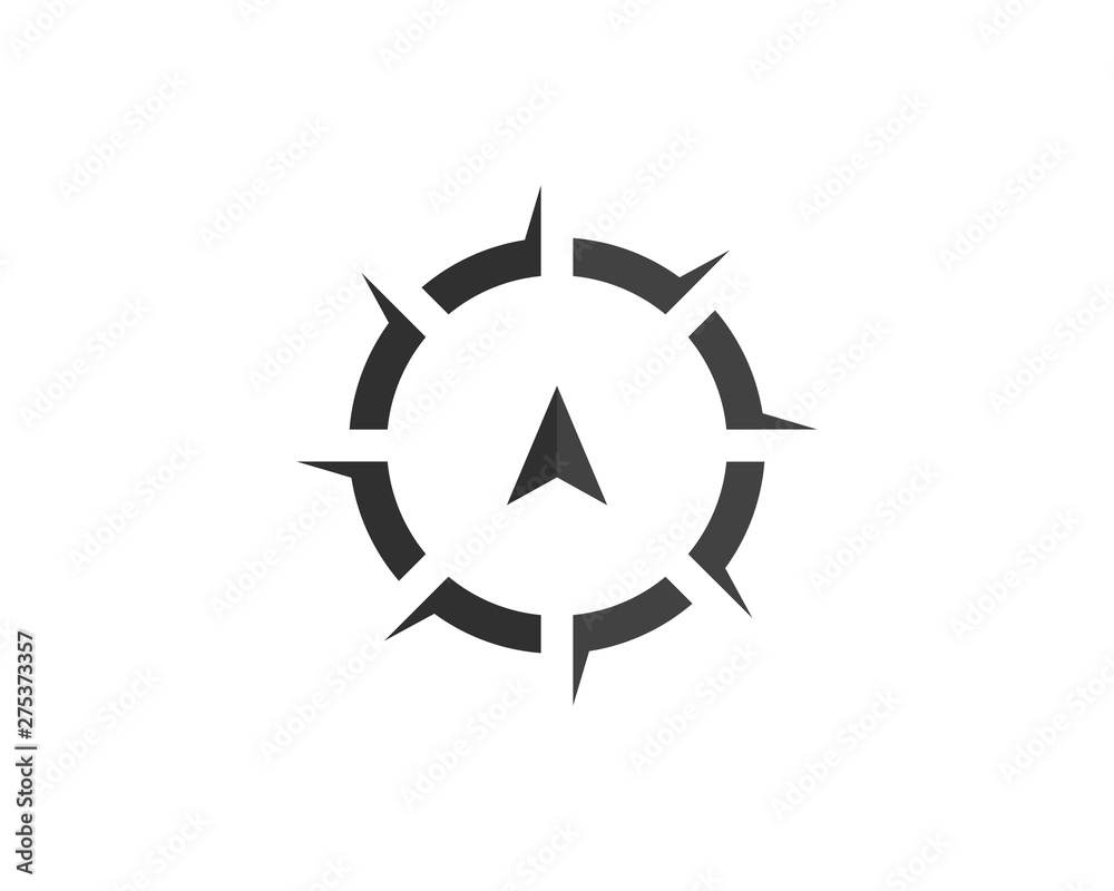 Fototapety, obrazy: Compass Logo Template vector icon illustration design