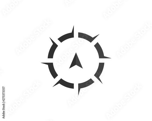 Photo  Compass Logo Template vector icon illustration design