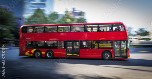 Foto op Canvas Londen rode bus Double Decker bus line - Metrobus CDMX