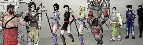 Creative comic characters illustration