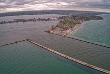 Aerial View Of Sodus Point, A ...