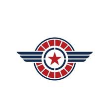 American Veteran Circle Badge ...