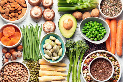 Fotografia Food sources of plant based protein