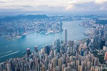 Hong Kong Victoria Harbor At D...
