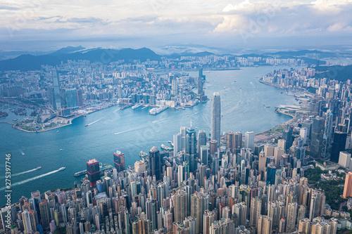 Fotografie, Obraz Hong Kong Victoria Harbor at daytime
