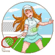 Vector Pixel Art Of Tennis Pla...