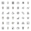 Financial administration line icon set.