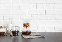 Glass And Chemex Of Hot Coffee...