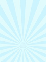 Sunlight Narrow Vertical Abstract Background. Powder Blue And White Color Burst Background.