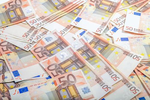 Foto op Aluminium Imagination background of 50 euro bills