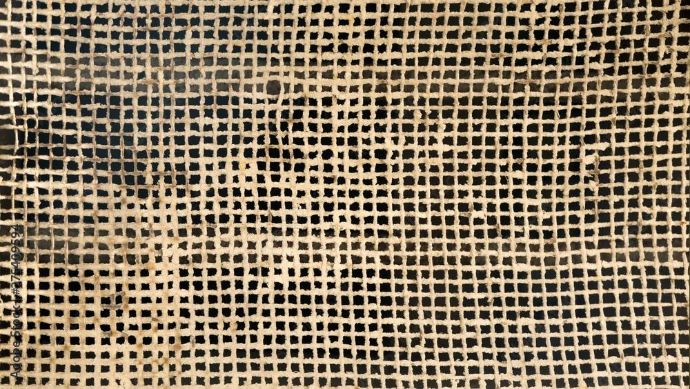 Fototapeta Textura de malla metálica en tejido oxidada que necesita mantenimiento