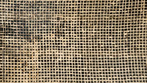 Obraz Textura de malla metálica en tejido oxidada que necesita mantenimiento - fototapety do salonu