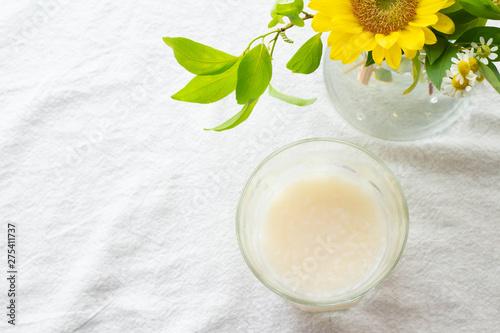 Poster Muguet de mai 冷たい甘酒とひまわりのテーブルフラワー