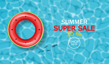 Summer Pool And Life Ring Vect...