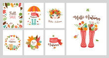 Autumn Greeting Cards, Banners...