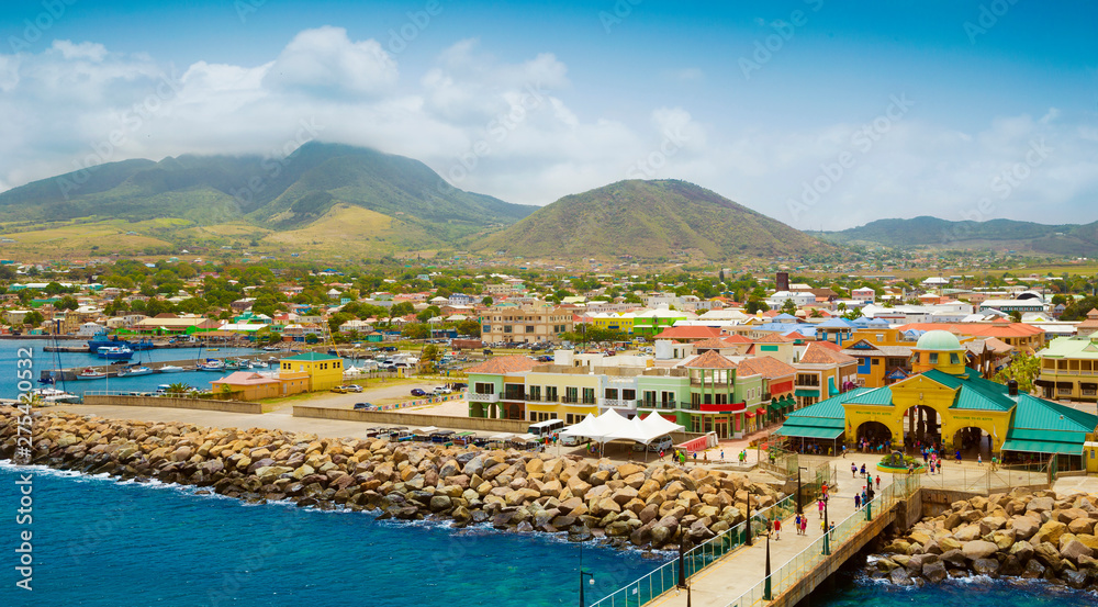 Fototapety, obrazy: Port Zante in Basseterre town, St. Kitts And Nevis