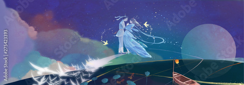 Obraz na plátne Qixi Festival