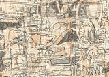 Fototapeta Młodzieżowe - Hand drawn Graffiti Abstract Background. vector illustration