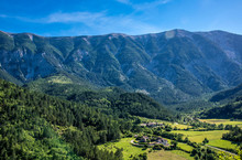 France, Vaucluse, Brantes, Toulourenc Valley (la Frache And Bernards Farms) At The Foot Of The North Slope Of The Mont Ventoux