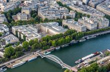 France, 16th Arrondissement Of Paris, View From The Eiffel Tower (Palais De Tokyo, Musee D'Art Moderne De Paris, Palais Galliera, Passerelle Debilly, Seine River)