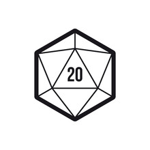 Vector 20 Sided Game Dice Mult...