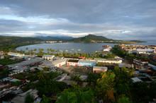 Cuba, Guantanamo Area, View On The City And The Bay Of Baracoa