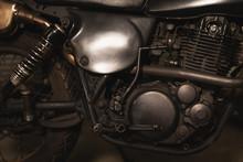 Close-up Of Motorbike Engine