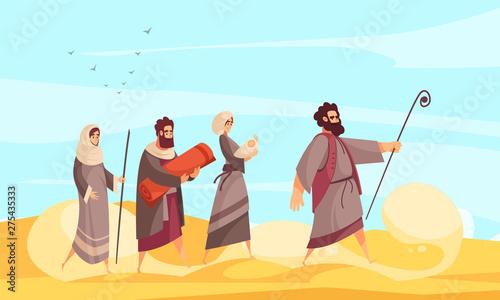 Obraz na plátně Bible Narratives Moses Composition