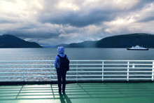 Europe,Norway,,ferry On Fjord