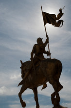 Jeanne D'arc Statue Mounting Horse And Holding A Flag, 1er Arrondissement, Paris, France