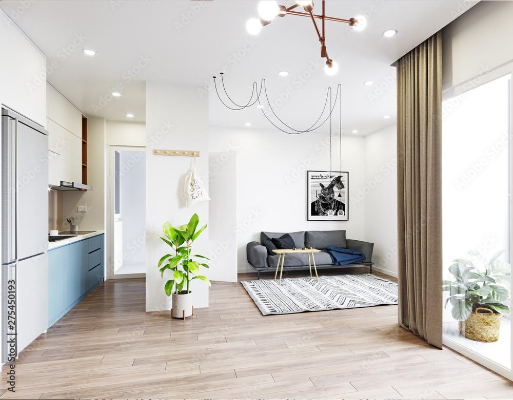 Fototapeta modern  living interior design.