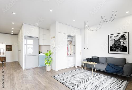 modern  living interior design. - 275450160