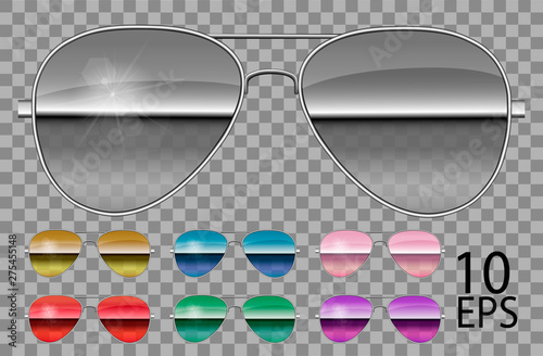 Set specular glasses Canvas Print