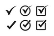 Check mark icon symbols vector. symbol for web site Computer and mobile vector.