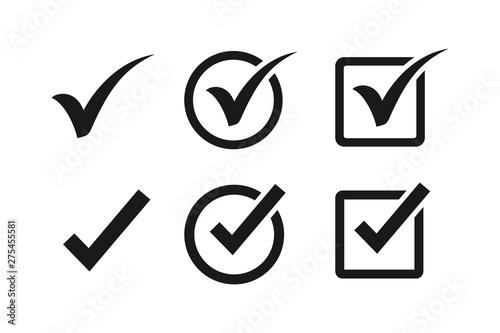 Check mark icon symbols vector Fototapeta