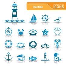 Sea & Coast - Editable Vector Icons
