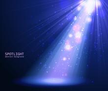 Abstract Blue Spotlight Backgr...