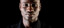 Dark Portrait Of An African Serious Man