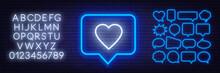 Neon Sign Like In Speech Bubbl...