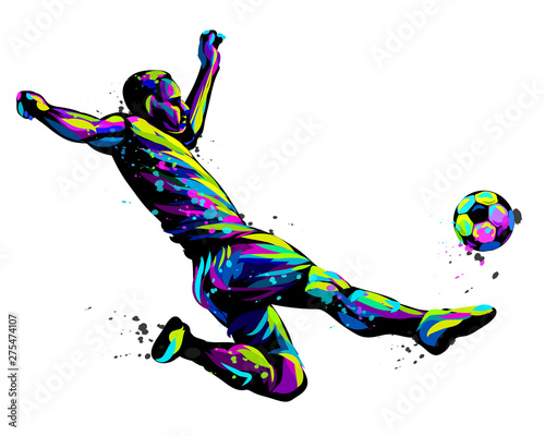 Footballer with the ball Fototapeta