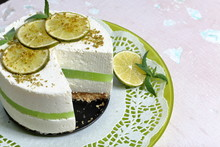 Lime Cheesecake Without Baking...